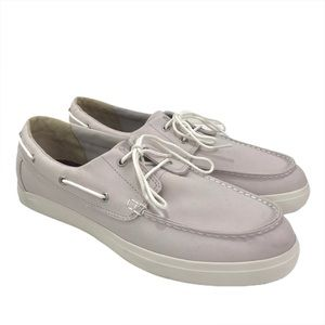 Timberland Union Wharf Boat Shoe Light Grey Canvas
